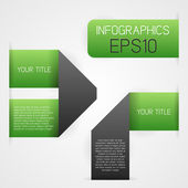 Green infographics template — Stock Vector