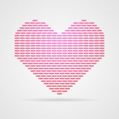 Heart crated from word mom — Stock Vector