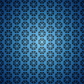 Blue clean ornament seamless vintage background pattern — Stock Vector