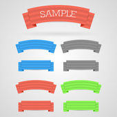 Set of color retro ribbons — Stock Vector