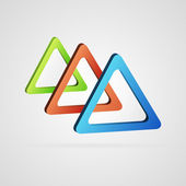 Color 3d triangles — Stock Vector