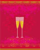 Invitation à la fête d'anniversaire cocktail — Vecteur