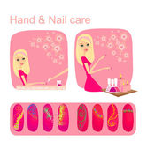 Hand & Nail care — Stock Vector