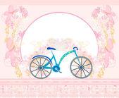 векторные велосипедов плакат — Cтоковый вектор