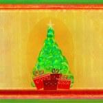 Abstract christmas tree card — Stock Photo #12489663