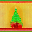 Abstract christmas tree card — Stock Photo
