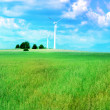 Wind turbine generating electricity — Stock Photo