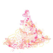 Beautiful princess - doodle — Stock Vector