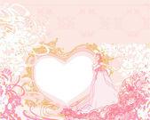 Beautiful bride card — Stock Vector