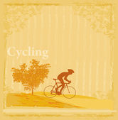 Cycling Grunge Poster Template — Stock Vector