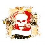 Skull grunge background — Stock Vector