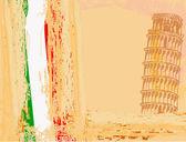 Vector pisa tower grunge background — Stock Vector