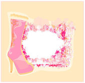 Poster vintage sapatos — Vetorial Stock