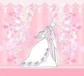 婚礼跳舞情侣背景 — 图库矢量图片