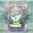 Skull Pirate - retro grunge card — Stock Photo