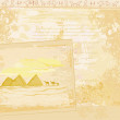 Vector de stock : Old paper with pyramids giza