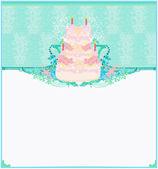 Happy Birthday Card — Stock Vector
