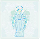 Blessed Virgin Mary — Stock Vector