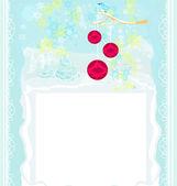 Christmas bird with decorative balls — Stock Vector