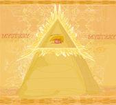 Ancient Pyramid Eye Design — Stock Vector