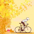 Outdoor autumn bike riding — Stock Vector #14082627