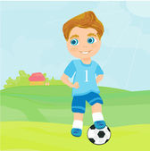 Young soccer player — Stock Vector