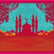 Ramadan background - mosque vector illustration — Vettoriali Stock