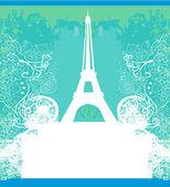 Eiffel tower artistic background. Vector illustration. — Stock Vector