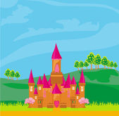 Magic Fairy Tale Princess Castle — Stock Vector