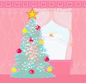 Christmas window — Vector de stock