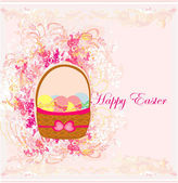 Happy easter border. — Stock Vector
