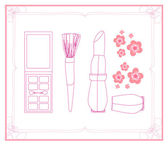 Kosmetik-set für modedesign — Stockvektor