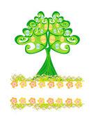 Wielkanoc drzewo ramki — Wektor stockowy