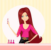Manicure lady — Stock Vector