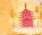 抽象的中国山水画 — Stock vektor