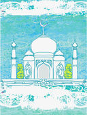 Vector Illustration of Mosque — Stock Vector