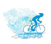 Велоспорт гранж-постер — Cтоковый вектор