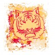 Abstracted grunge Tiger illustration — Stock Vector #16901673