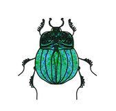 Scarab Beetle Vector — Stock vektor