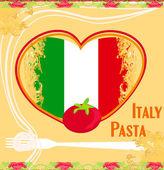Pasta pattern - Vintage style — Stock Vector