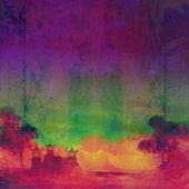 抽象的中国山水画 — 图库照片