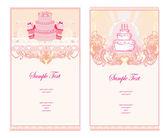 Happy Birthday Card set — Stock Vector
