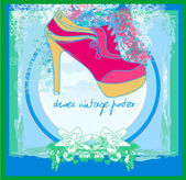 Shoes vintage poster — Stock Vector