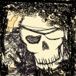 Royalty-Free Stock Imagen vectorial: Skull Pirate - retro card