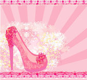 Floral shoes poster — Stock Vector