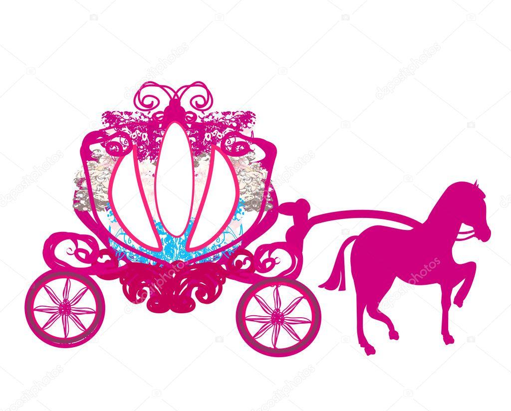 老式马车-涂鸦图标 — 矢量图片作者 jackybrown