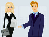 Formally dressed in office, business meeting — Vector de stock