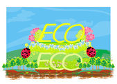 Eco label — Stock Vector