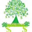 Stock Vector: Money growing on trees - abstract card