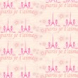 Paris seamless pattern with shoes and flowers  — Vettoriali Stock